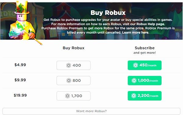 Цена на робуксы