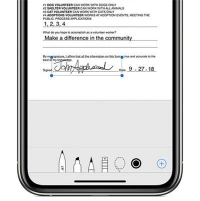 Подпись документов в iPhone